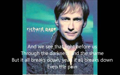 Richard Page | Even The Pain